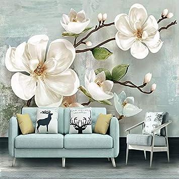 Amazon.com : 3D Wallpaper Stereo Relief Fiore di Magnolia ...