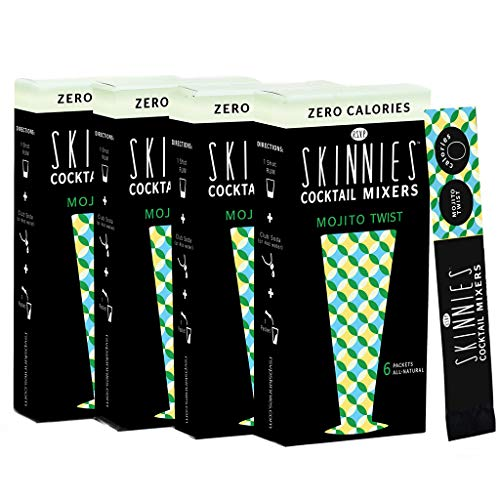 RSVP Skinnies - 0 Calorie mixers - Mojito Twist, 4-boxes (6 packets per box)
