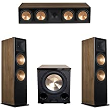 Klipsch 3.1 Walnut System with 2 RF-7 III Floorstanding Speakers, 1 RC-64 III Center Speaker, 1 Klipsch PL-200II Subwoofer