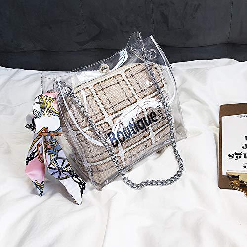 Sac Sac Transparent Sauvage Kaki de bandoulière marée Mode WSLMHH coréenne Paquet d'été à Petit de Messenger de Version de du Sac nUaqxcwI8f