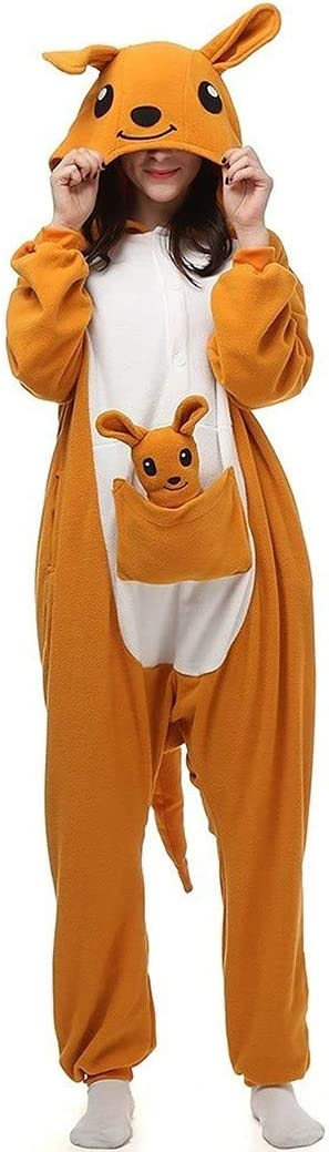 Mono con Capucha Unisex Canguro Adulto Bodies Pijamas de ...
