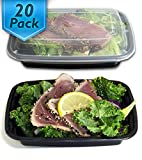 [20 Pack] 32 Oz. Meal Prep Containers BPA Free Portion Control Bento Boxes