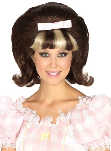 Forum Novelties Women's 1960's Brown and Blonde Costume Princess Wig, Brown/Blond, One Size ()