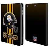 Official NFL Helmet Pittsburgh Steelers Logo Leather Book Wallet Case Cover For Apple iPad mini 1 / 2 / 3