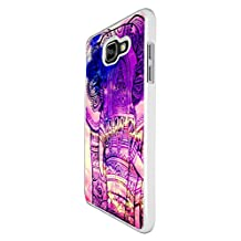 002910 - Out Of This World Galaxy Elephant Design For Samsung Galaxy A5 A500M - 2015 Fashion Trend CASE Back COVER Plastic&Thin Metal - White
