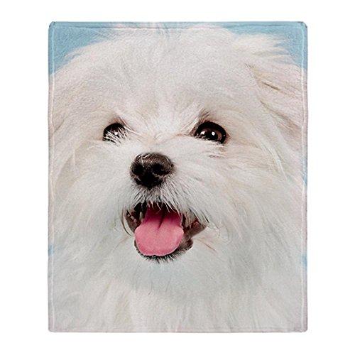 CafePress - Cute Maltese Throw Blanket - Soft Fleece Throw Blanket, 50
