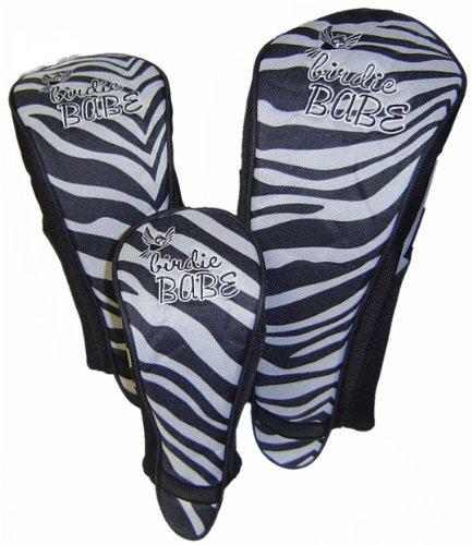 Birdie Babe Golf Club Zebra Head Covers Headcovers for Women Set of 3