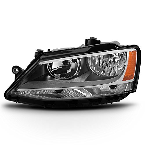 ACANII - For 2011-2018 Volkswagen Jetta [Halogen Model] Replacement Headlight Headlamp - Driver Side Only