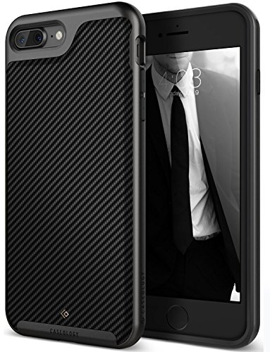 - Caseology Envoy Series iPhone 8 Plus / 7 Plus Cover Case with Leather Slim Protective for Apple iPhone 7 Plus (2016) / iPhone 8 Plus (2017) - Matte Black