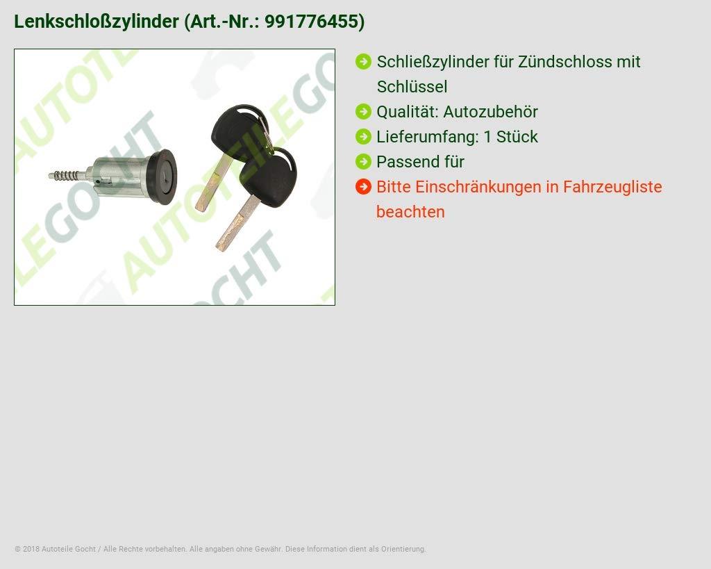 Cilindro F. Cerradura de encendido Opel Vectra B CC B a CC a Omega Sintra Calibra 88 - 99: Amazon.es: Coche y moto