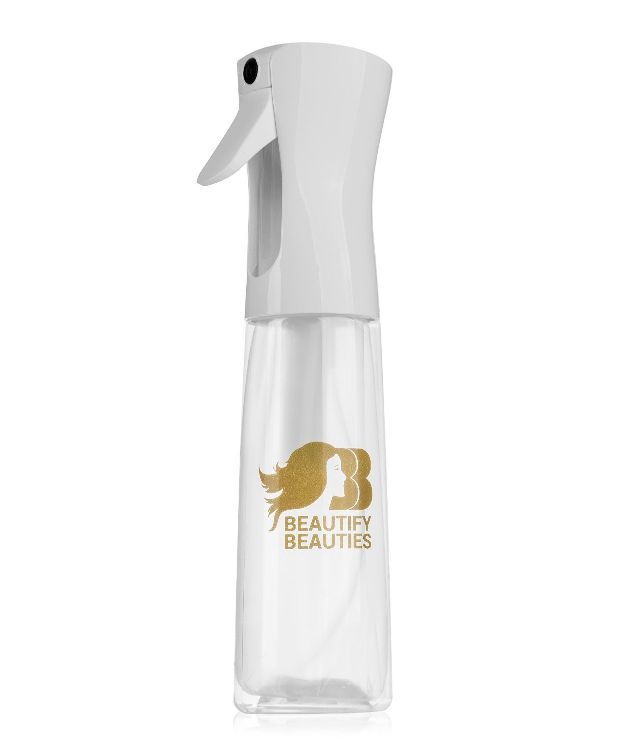 Beautify Beauties Original Flairosol Empty Clear Spray Bottle, Continuous Water Mister – 10 Ounce