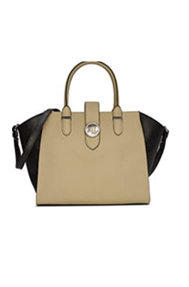 84846ddefc Amazon.com  Lauren Ralph Lauren Charleston Leather Satchel Black  Shoes