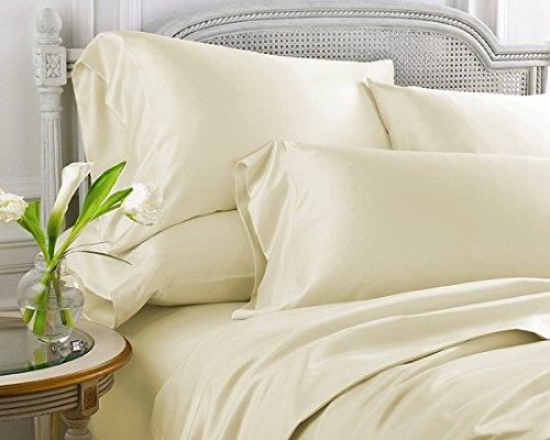 (UHCBeddings 1000 Thread Count 100% Premium Long-Staple 100% Egyptian Cotton, Cal-King Bed Sheet Set, For 18