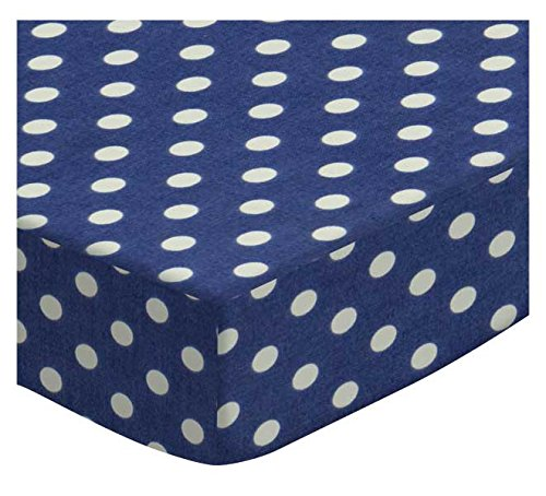 SheetWorld Fitted Cradle Sheet - Primary Polka Dots Navy Woven - Made In USA