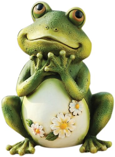 (Atecy 45500226 Joseph Studio 65904 Tall Frog Sitting Up Garden Statue, 9.5-Inch, 9.5 inches green)