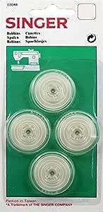 Singer-Ref 03044 Paquete De 4 Canillas Para Máquinas de Coser Singer 700/1425/250: Amazon.es: Hogar