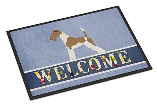 "Caroline's Treasures Wire Fox Terrier Welcome Doormat, 18"" x 27"", Multicolor"
