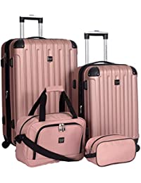 Travelers Club 4 Piece Midtown Spinner Luggage Set