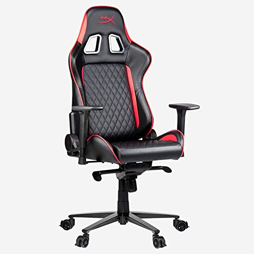 HyperX Merch Silla Gaming, Prime PU Cuero, Negro Rojo, Medium: Amazon.es: Hogar