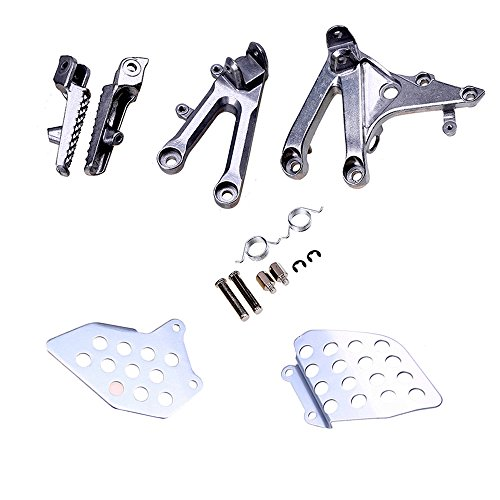 (Decal Story Front Rider Footrests Foot Rest Aluminum Pedals With Bracket Parts For Honda CBR 600 RR 2007-2014)