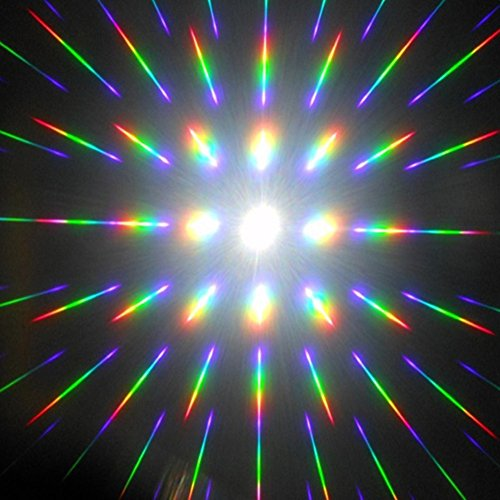 A4 Sheets Diffraction Gratings Sheets 13,500 Lines/inch - 811 Inch Clear PET Diffraction Fireworks Rave Films Sheets- 2pcs Packs (0.25mm Thickness)