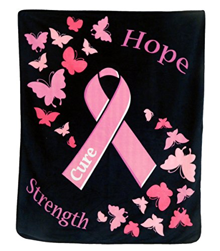 Infinity Republic Pink Ribbon - Breast Cancer Awareness 50x60in Blanket Sheared Plush]()