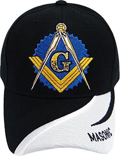 Freemason Embroidered Black Hat Mason Masonic Lodge Baseball Cap  Black