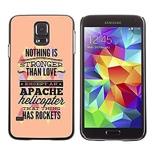 LASTONE PHONE CASE / Diseño de Delgado Duro PC / Aluminio Caso Carcasa Funda para Samsung Galaxy S5 SM-G900 / Nothing Is Stronger Than Love