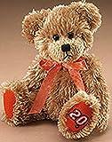 Lil Fuzzies Boyds NASCAR Tony Stewart #20 Tan Teddy Bear with Orange Ribbon
