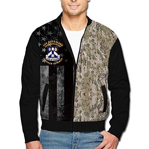 (1st Battalion 58th Infantry Men's Full-Zip Jacket Flight Jacket)