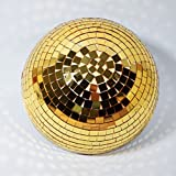 Fantado 12'' Gold Half Dome Disco Mirror Ball for Dance Party by PaperLanternStore