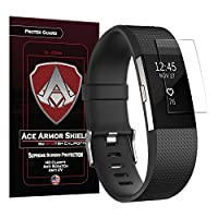 Protector de pantalla Ace Armor Shield Protek Guard para The Fitbit Charge 2 (paquete de 6) con garantía de reemplazo de por vida gratis