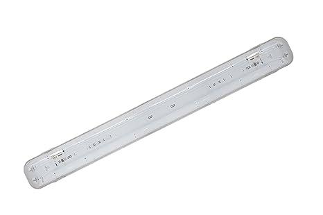 Plafoniera Stagna 120cm : Plafoniera led stagna attacco doppio tubo neon t cm