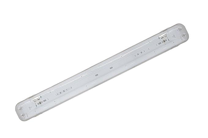Plafoniera Da Esterno Con Doppia Lampada : Plafoniera led stagna attacco doppio tubo neon t cm esterno