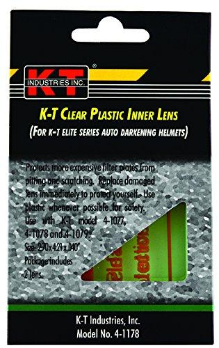K T Industries 4 1178   Clear Plastic Inner Lens For Elite Series Helmets 4 1077 And 4 1078  2Pk