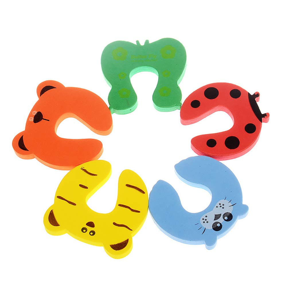 Finger Pinch Guard Durable Thickened Baby Proofing Door Stopper Soft Door File that Protect Children 5Pcs Beautyer