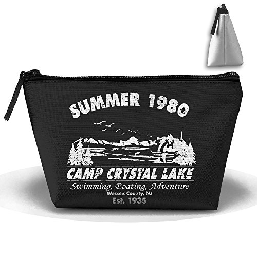 Summer 1980 Camp Crystal LAKE Trapezoid Receive Bag Trapezoid Multifunction Portable Home Office Travel Camping Sport Gym Outdoor PdBvIdxE