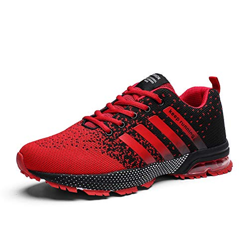 Kundork Mens Running Shoes Air Cushion Trail Fashion Sneakers Lightweight Tennis Sport Casual Walking Athletic for Men Outdoor ()