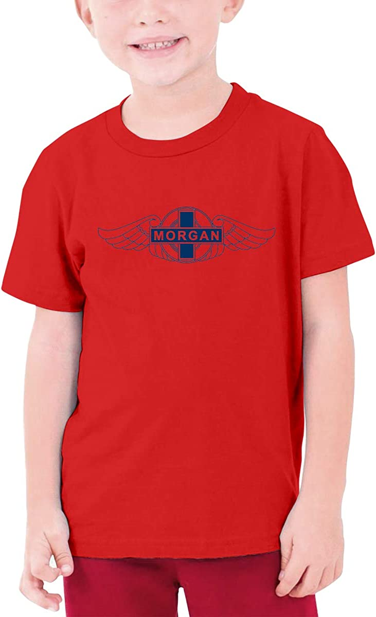 YUNLIHO Geek Custom Morgan Vehicle Logo Shirt for Adolescent Red S