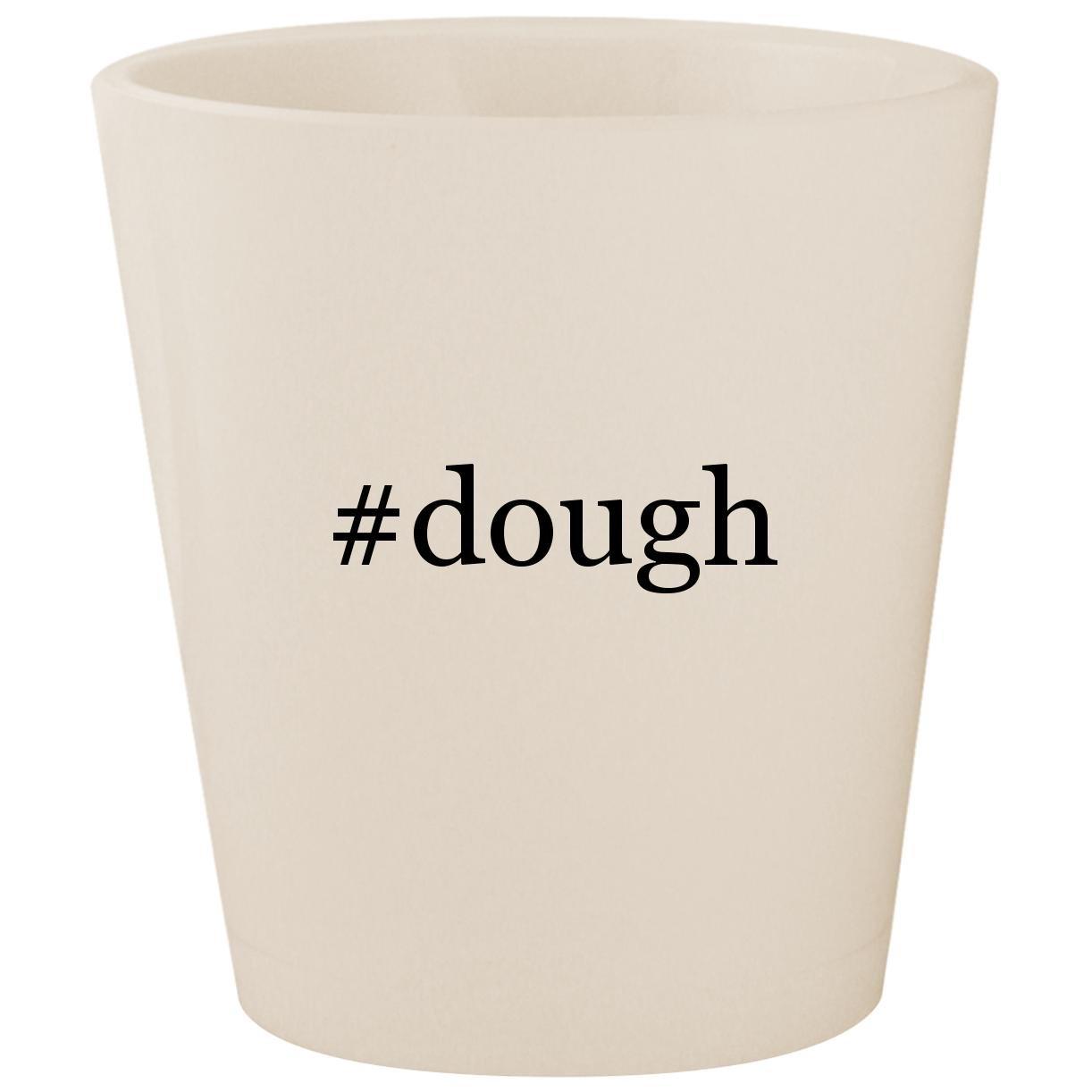 #dough - White Hashtag Ceramic 1.5oz Shot Glass