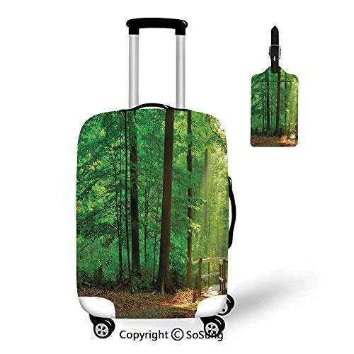 Apartment Decor Travel Suitcase Protective Cover,Fit for 27-30