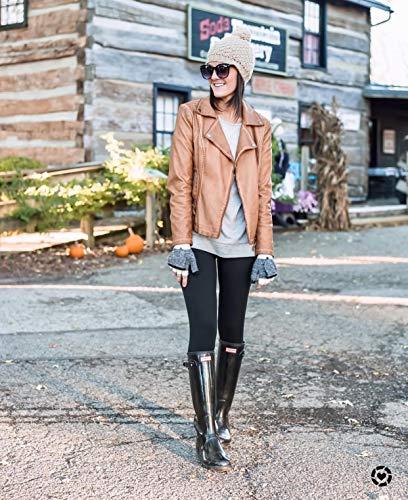 SATINA High Waisted Leggings - 25 Colors - Super Soft Full Length Opaque Slim 7