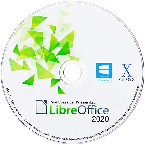 LibreOffice 2020 Home Student Professional & Business Compatible With Microsoft Office Word Excel & PowerPoint Software CD for PC Windows 10 8.1 8 7 Vista XP 32 & 64 Bit, Mac OS X and Linux 51kEOeKMQYL