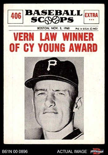 1961 Nu-Card Scoops # 406 Vern Law Winner of Cy Young Award Vern Law Pittsburgh Pirates (Baseball Card) Dean's Cards 3 - VG - Young Award Cy