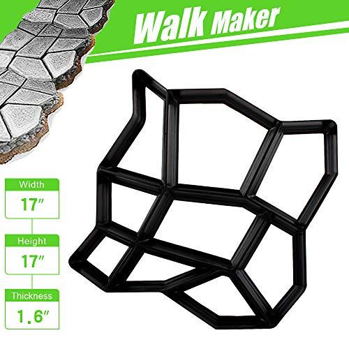 "CJGQ 17""x17""x1.6"" Walk Maker Reusable Concrete Path Maker Molds Pathmate Stone Moldings Stepping Stone Paver Yard Patio Lawn Garden DIY Walkway Pavement Paving Moulds (Irregular)"