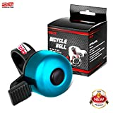 Arltb Aluminum Alloy Bicycle Bell (4 Colors) Bike Bell Ring Horn Accessory Clear and Loud Ringtone Alert Fits for Boys Girls Kids Mountain Road Bike Fits 20mm-22mm Handlebar (Blue)