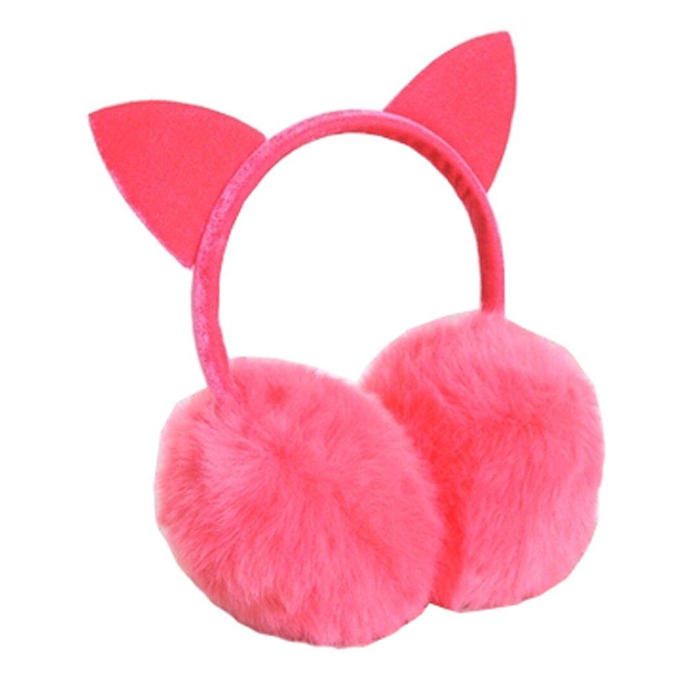 Lovely Cat Ears Super Soft Earmuffs Winter Earmuffs Ear Warmers, Light Red KE-CLO2474962011-JELLY04612