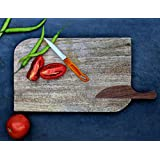 Diwali Gifts Wooden Cheese Cutting Chopping Board Vegetable Tray Hand Carved by Store Indya