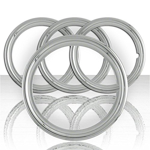 Upgrade Your Auto Set of Four 17' Chrome ABS 1 1/2' Deep Wheel Trim Rings by Upgrade Your Auto