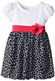 Youngland Little Girls' Leopard Cap Sleeve Fashion Dress